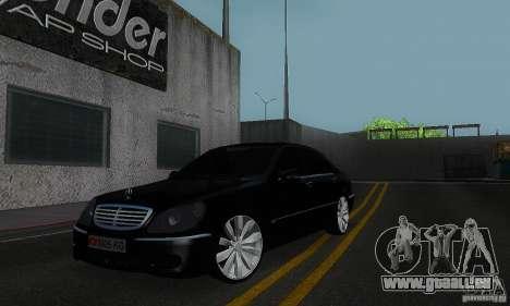 Mercedes-Benz S600 W200 pour GTA San Andreas laissé vue