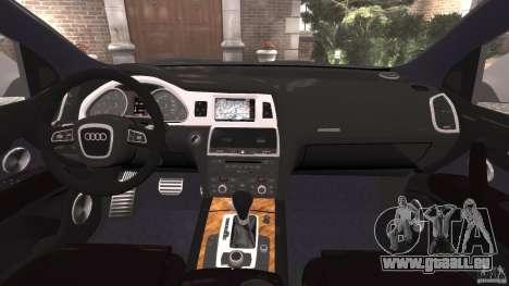 Audi Q7 V12 TDI v1.1 pour GTA 4 Vue arrière