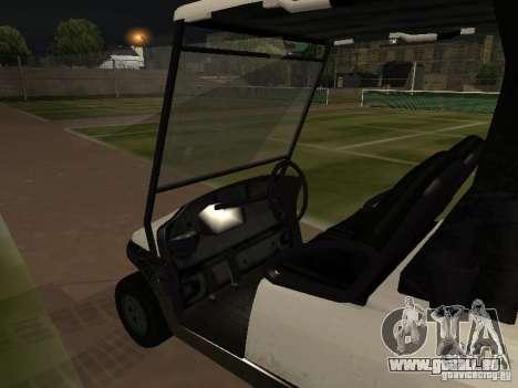 Caddy de GTA TBoGT pour GTA San Andreas vue de droite
