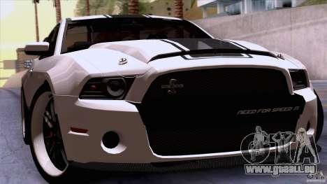 Ford Shelby GT500 Super Snake pour GTA San Andreas vue arrière