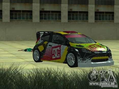 Ford Fiesta H.F.H.V. Ken Block Gymkhana 5 pour GTA San Andreas sur la vue arrière gauche