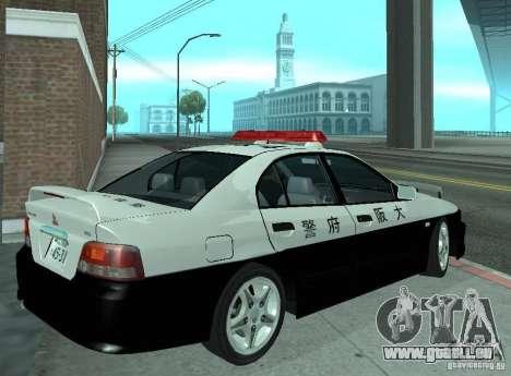 Mitsubishi Galant Police pour GTA San Andreas vue de droite
