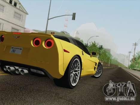 Chevrolet Corvette ZR1 pour GTA San Andreas roue