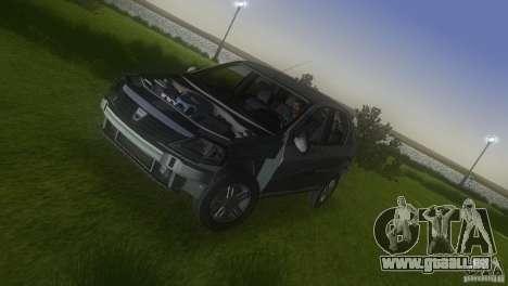 Dacia Logan pour une vue GTA Vice City d'en haut