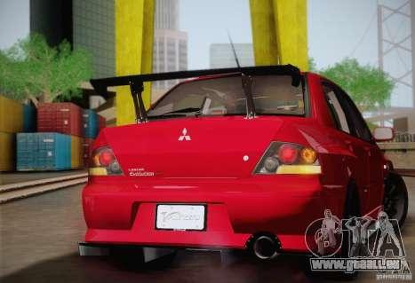 Mitsubishi Lancer Evolution VIII MR Edition pour GTA San Andreas vue arrière