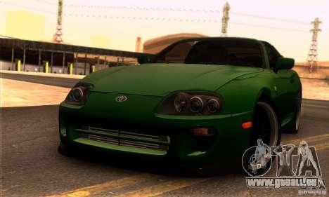 Toyota Supra Targa pour GTA San Andreas sur la vue arrière gauche