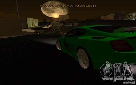 Bentley Continental GT pour GTA San Andreas vue intérieure