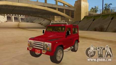 Land Rover Defender für GTA San Andreas