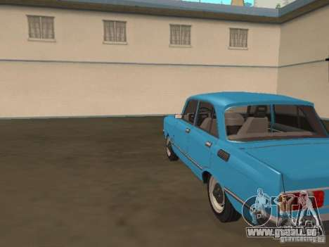 Moskvich 2140 SL pour GTA San Andreas sur la vue arrière gauche