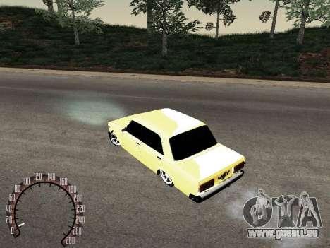 VAZ 2107 or pour GTA San Andreas vue de droite