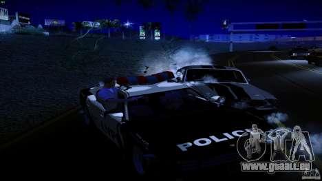Flics tirer hors machine pour GTA San Andreas troisième écran