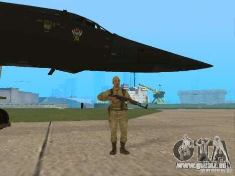Tu 160 Black Jack für GTA San Andreas Rückansicht