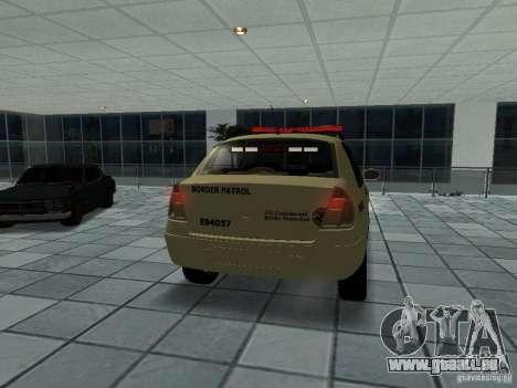 Renault Clio Symbol Police für GTA San Andreas zurück linke Ansicht