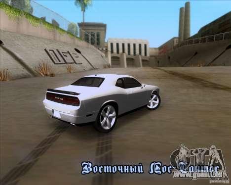 Dodge Challenger SRT8 2009 pour GTA San Andreas vue arrière