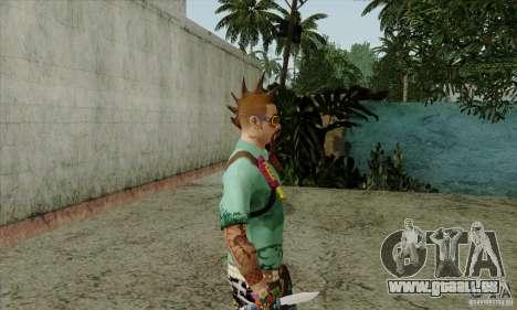 Peau substituer Fam1 pour GTA San Andreas quatrième écran
