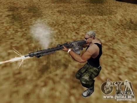 La mitrailleuse MG-42 pour GTA San Andreas troisième écran