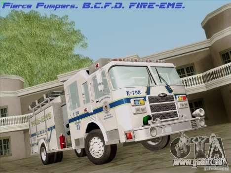 Pierce Pumpers. B.C.F.D. FIRE-EMS für GTA San Andreas