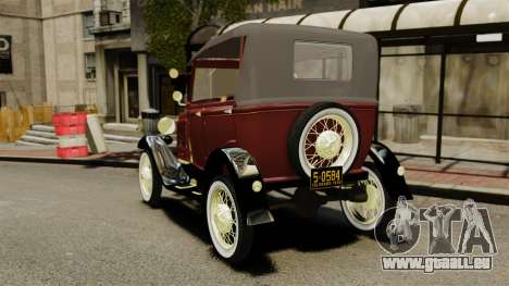 Ford Model T 1926 für GTA 4 hinten links Ansicht