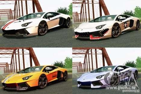 Lamborghini Aventador LP700-4 2012 pour GTA San Andreas vue de droite