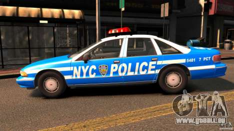 Chevrolet Caprice 1993 NYPD pour GTA 4 est une gauche