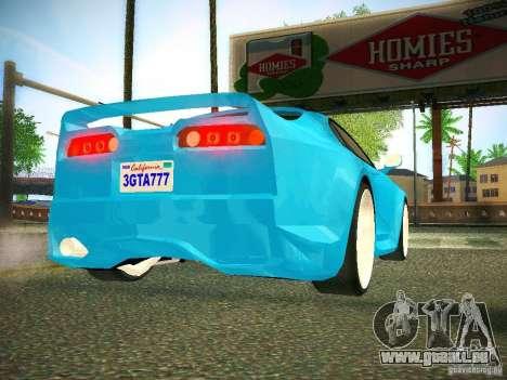 Toyota Supra VeilSide Fortune 2003 pour GTA San Andreas vue arrière