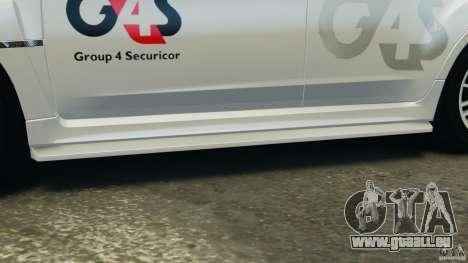 Subaru Impreza WRX STi 2011 G4S Estonia pour GTA 4