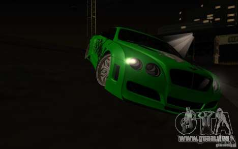 Bentley Continental GT für GTA San Andreas Seitenansicht