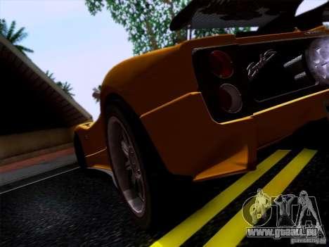 Pagani Zonda C12S Roadster für GTA San Andreas rechten Ansicht