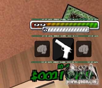 P-HUD pour GTA San Andreas deuxième écran