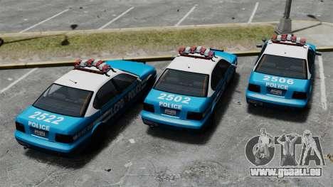 Declasse Merit Police Cruiser ELS für GTA 4 Rückansicht