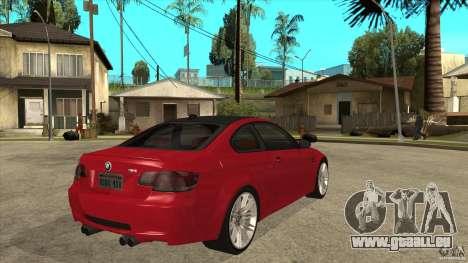 BMW M3 E92 für GTA San Andreas rechten Ansicht