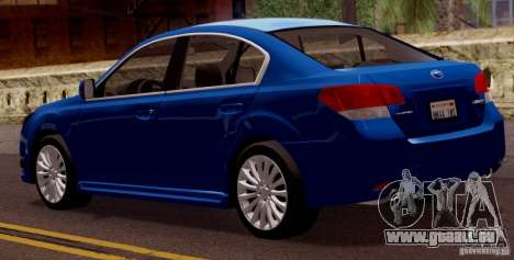 Subaru Legacy B4 2010 für GTA San Andreas rechten Ansicht