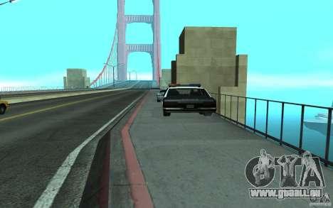 Police au pont, San Fierro pour GTA San Andreas deuxième écran