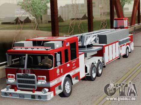 Pierce Arrow XT LAFD Tiller Ladder Truck 10 für GTA San Andreas obere Ansicht