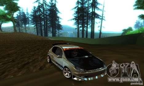 Peugeot 206 Tuning für GTA San Andreas Innenansicht