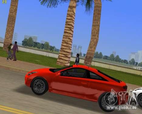 Toyota Celica 2JZ-GTE noir Revel pour une vue GTA Vice City de la gauche