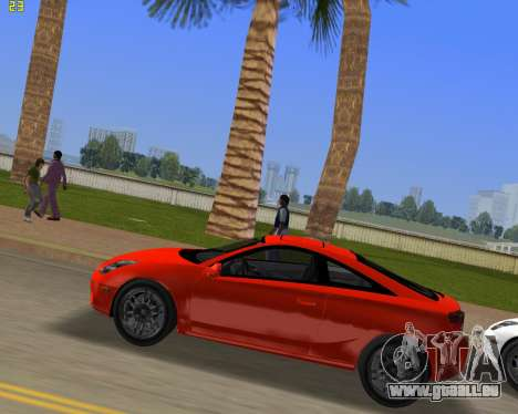 Toyota Celica 2JZ GTE schwarz Revel für GTA Vice City linke Ansicht