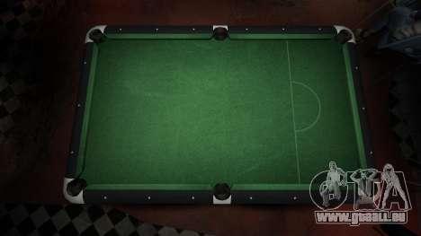 Table de billard supérieure dans la barre de 8 b pour GTA 4 secondes d'écran