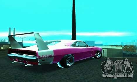 Dodge Charger Daytona SRT10 pour GTA San Andreas laissé vue