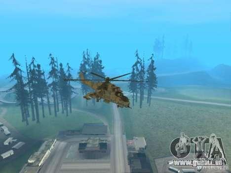 Mi-24p für GTA San Andreas Innen