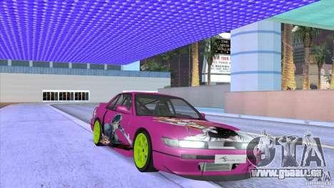 Nissan Silvia S13 Sword Art Online für GTA San Andreas Innenansicht