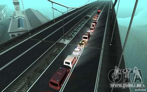 Le cortège présidentiel v. 1.2 pour GTA San Andreas quatrième écran