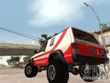 Jeep Cherokee 1984 pour GTA San Andreas vue arrière