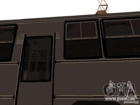 Mercedes Benz SWAT Bus pour GTA San Andreas vue de côté