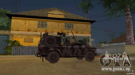 Land Rover WMIK pour GTA San Andreas vue de droite