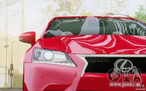 Lexus GS 350 F Sport Series IV für GTA San Andreas Unteransicht