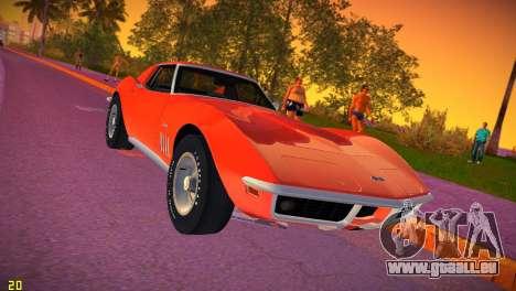 Chevrolet Corvette (C3) Stingray T-Top 1969 pour GTA Vice City