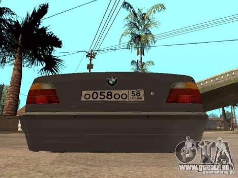 BMW 750i pour GTA San Andreas vue intérieure