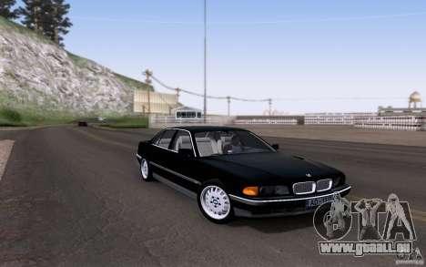 BMW 730i E38 pour GTA San Andreas vue intérieure