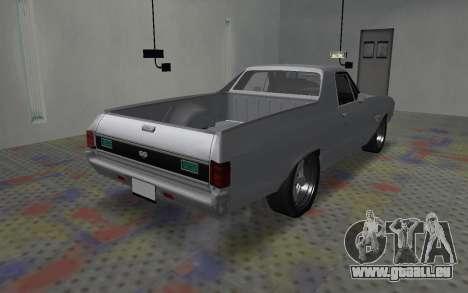 Chevrolet El Camino SS für GTA San Andreas zurück linke Ansicht